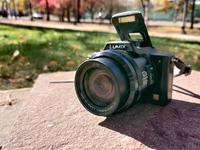 Фотоаппарат Panasonic Lumix DMC-FZ20 и смартфон Xiaomi redmi note 7 pro