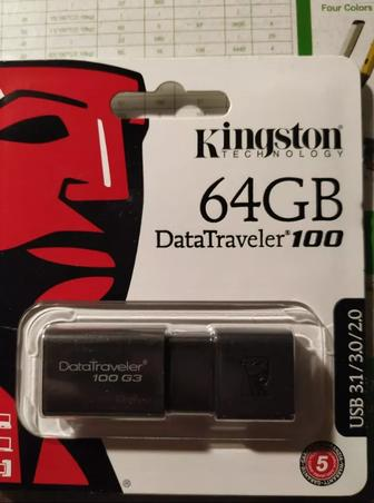 Флешка Kingston 100 G3 64GB черный