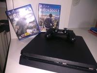 Продаю playstation 4 + dualshok 4 и 2 игры