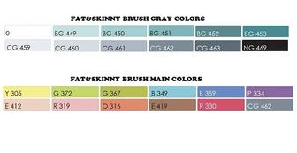 Маркеры для скетчинга Fat&Skinny BRUSH 12 шт