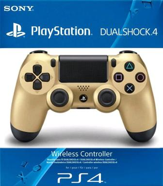 Джойстик PS4 Sony DualShock V2 (CUH-ZCT2E/Gold)